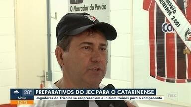 JEC inicia preparativos para o Catarinense - JEC inicia preparativos para o Catarinense