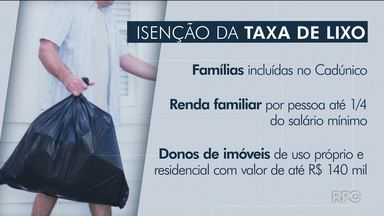Três mil famílias têm direito à isenção da taxa de lixo em Curitiba - Veja os critérios para conseguir a isenção.