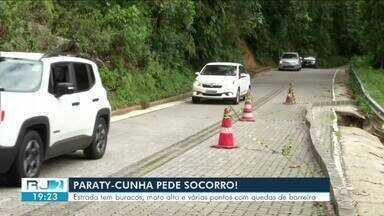 Estrada Paraty-Cunha está com vários pontos em condições precárias - Na alta temporada a situação piora, porque o fluxo de veículos é mais intenso do que o normal.