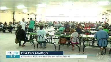 Restaurante Popular volta a funcionar em Volta Redonda - Estabelecimento estava fechado desde dezembro de 2016. A previsão é que sejam servidos por dia 600 cafés da manhã e 1,5 mil almoços.