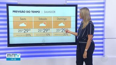 Confira a previsão do tempo para sexta-feira (4), em Salvador - Confira também o mapa com as temperaturas.