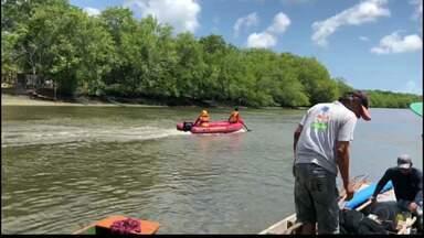 JPB2JP: Jovem desaparece em rio em Bayeux - Caiu de barco.