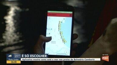 Aplicativo mostra as condições do mar em Balneário Camboriú - Aplicativo mostra as condições do mar em Balneário Camboriú