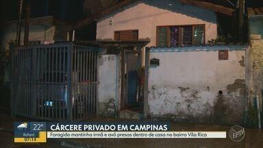Policia prende homem que manteve irmã e avó presas em cárcere privado em Campinas - No bairro Vila Rica, homem manteve irmã e avó presas dentro de casa. Ele não voltou da saidinha de fim de ano.