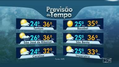Veja as variações das temperaturas no Maranhão - Confira a previsão do tempo nesta sexta-feira (4) em São Luís e também no interior do estado.