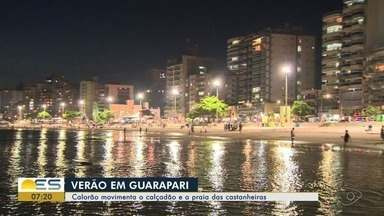 Calorão movimenta o calçadão e a praia das Castanheiras em Guarapari - Veja os destaques.
