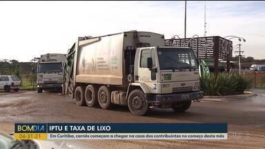 Carnês do IPTU começam a chegar na casa dos contribuintes no começo deste mês - Além do imposto, o carnê de lixo também vai ser entregue.