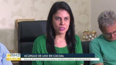 Mutirão é feito em Cacoal para tentar amenizar o problema da coleta de lixo na cidade - O município está sem empresa contratada para prestar o serviço.