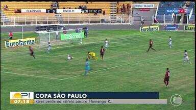 River-Pi perde na estreia para o Flamengo-RJ - River-Pi perde na estreia para o Flamengo-RJ
