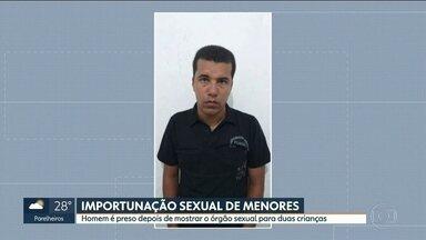 Homem flagrado mostrando órgão sexual para duas crianças é preso em SP - Elcio Batista, de 34 anos, é técnico em informática e já havia sido acusado por um caso parecido, em 2005.