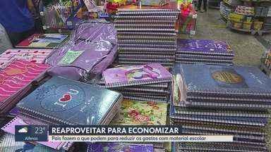 Pais fazem o que podem para reduzir os gastos com material escolar - Material escolar está ainda mais caro neste ano.