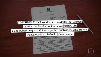 Ministro Sérgio Moro determina envio da Força Nacional ao Ceará - O ministro da Justiça e da Segurança Pública, Sérgio Moro, determinou o envio da Força Nacional ao Ceará. O estado enfrenta uma onda de ataques a ônibus e prédios públicos. Houve até tentativa de explosão de um viaduto.