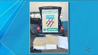 Mais de 200 kg de maconha são apreendidos em Amambai - Motorista do carro tentou fugir mas foi preso minutos depois.