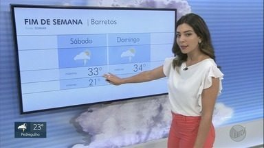 Veja a previsão do tempo para o fim de semana região de Ribeirão Preto - No sábado, termômetros marcam máxima de 28 graus em Ribeirão.
