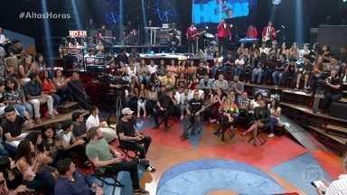 Banda Overman com 'Vida Real' abre o programa e Serginho apresenta convidados - Ex-BBBs participam do programa