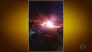 Bandidos realizam ataques no Ceará pela 5ª noite seguida - Uma estação ambiental e veículo foram incendiados na noite deste domingo (6). Já são 115 ataques em 33 cidades do Ceará e continuam mesmo com a atuação da Força Nacional de Segurança. Governo do Pará pediu auxílio da Força Nacional.