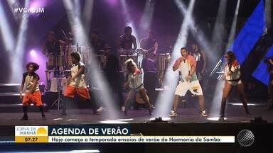 Confira a agenda de ensaios de verão desta segunda (7) em Salvador - Entre as opções tem o ensaio do Harmonia do Samba; confira os detalhes.