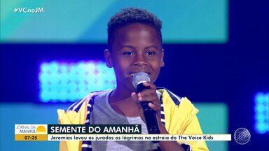 The Voice Kids: jurados baianos se emocionam no primeiro episódio da temporada - Veja como foi o domingo de apresentações.
