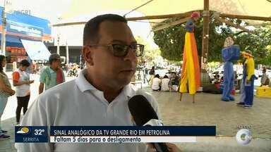 Ação de agendamento da entrega de kits digitais é realizada em Petrolina - O sinal analógico da TV Grande Rio será desligado no dia 9 de janeiro
