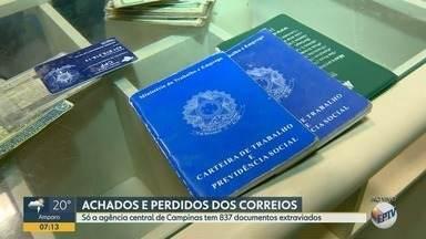 Correios têm centenas de documentos perdidos em Campinas - Eles permanecem no local por 60 dias, depois são devolvidos para os órgãos que fizeram a emissão.