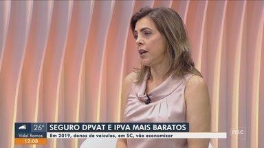 IPVA e DPVAT estão mais baratos em 2019 em Santa Catarina - IPVA e DPVAT estão mais baratos em 2019 em Santa Catarina