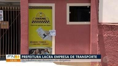 Fiscalização lacra empresa de transporte por aplicativo - Estabelecimento não tinha a documentação obrigatória para o funcionamento em Presidente Prudente.