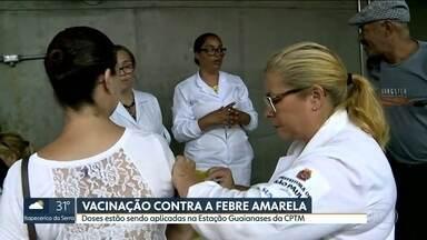 Vacinação contra a febre amarela na CPTM - Estação Guaianases vai vacinar passageiros até as 15h. No sábado, a estação Domingos de Moraes, da linha 8 - Diamante, também faz ação.