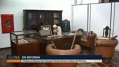 Museu dos Campos Gerais está fechado para visitantes, durante reforma - Espaço deve reabrir ainda no primeiro semestre, com nova proposta para aproximar a comunidade.