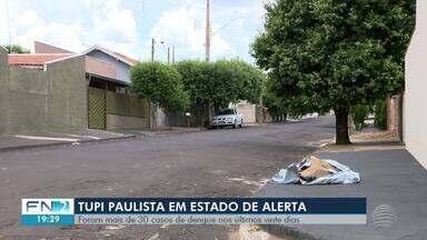 Tupi Paulista registra situação de alerta para casos de dengue - Cidade confirmou mais de 30 casos da doença nos últimos 20 dias.