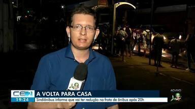 Sindiônibus divulga que vai reduzir frota de ônibus esta noite - Outras informações no g1.com.br/ce