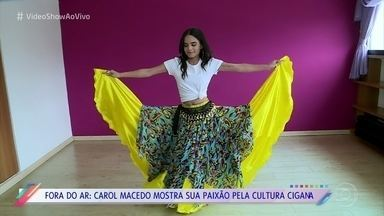 Carol Macedo mostra o que faz em suas folgas - Dança cigana é a paixão da atriz, que aproveita para fazer aulas quando não está gravando 'O Tempo Não Para'