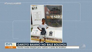 Família recebe doações para custear estudo de garoto baiano no Ballet Bolshoi - A família fez a arrecadação através de um site de financiamento coletivo na internet.
