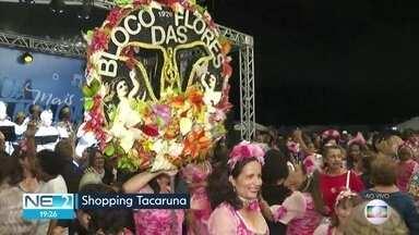 Bloco das Flores antecipa carnaval em shopping no Recife - Festa foi no Shopping Tacaruna.