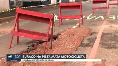 Guarda municipal morre depois de cair de motocicleta dentro de buraco, em São Caetano - O guarda municipal José Florêncio da Silva morreu ao sair do trabalho e cair de moto em um buraco na pista, em São Caetano. No local tinha uma obra de drenagem e sem sinalização.