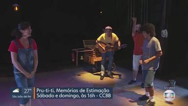 """MG Cultura: exposição e teatro são destaque na programação do fim de semana - Exposição """"Sombras e Mistérios"""" e peça """"Pru-ti-ti - Memórias de Estimação"""" estão em cartaz em Belo Horizonte."""