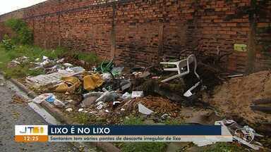 Autoridades têm dificuldades para identificar quem descarta lixo de forma irregular - Em Santarém, problema é constatado do centro à periferia.