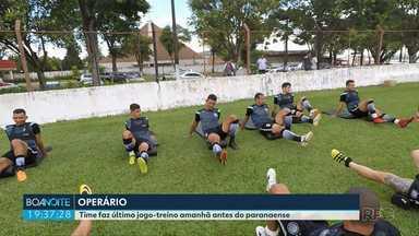 Operário faz último jogo-treino antes do Campaeonato Paranaense - A partida é contra o Maringá. O time apresenta novo reforço para o elenco.