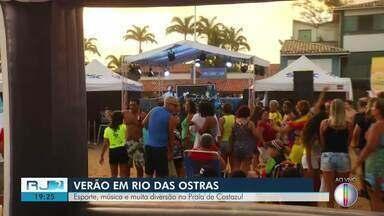 Esporte, música e muita diversão na Praia de Costazul, em Rio das Ostras - Assista a seguir.