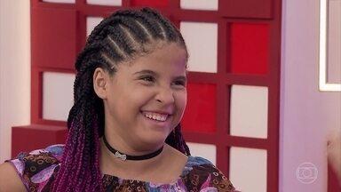 Lívia Valéria conta um pouco de sua trajetória - Jovem tem 12 anos e vem de Patos, na Paraíba