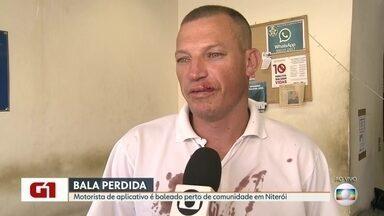 Motorista de aplicativo é baleado em Niterói - O motorista levava passageira quando foi atingido de raspão na boca