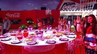 Leifert anuncia jantar na primeira noite - Apresentador revela surpresa