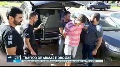 Polícia desarticula quadrilha mandava armas e drogas pro RJ - 13 pessoas foram presas no Rio, Mato Grosso do Sul e Espírito Santo. Grupo movimentava 200 milhões de reais por ano.