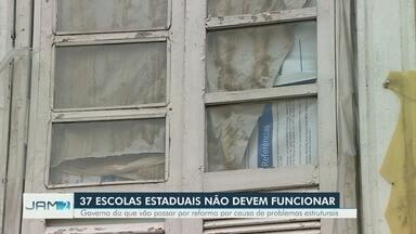 Governo diz que escolas vão passar por reforma por causa de problemas estruturais - 37 escolas estaduais devem ficar fechadas.