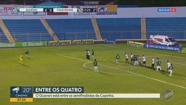 Copinha: Guarani está entre os semifinalistas e vai enfrentar o São Paulo - Guarani está entre os semifinalistas, gols da vitória saíram no segundo tempo.