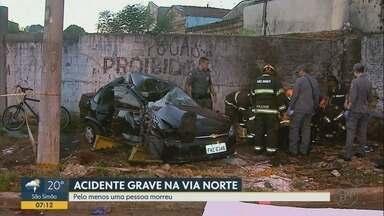 Motorista embriagado atropela mulher e mata motociclista em Ribeirão Preto - Testemunhas contaram à Polícia Militar que suspeito dirigia na contramão pela Via Norte.
