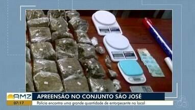 Policia apreende drogas no conjunto Habitacional São José em Macapá - Durante patrulhamento pelo local, policiais foram abordados por moradores que denunciaram a venda de entorpecentes no residencial.