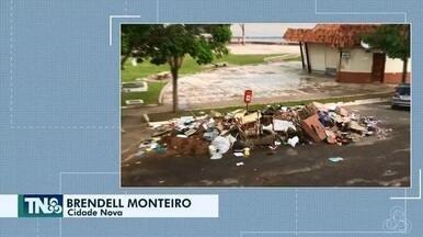 Tô na Rede: aumenta acúmulo de lixo na orla do complexo do Jandiá, em Macapá - Internauta registra relato pelo aplicativo da Rede Amazônica.