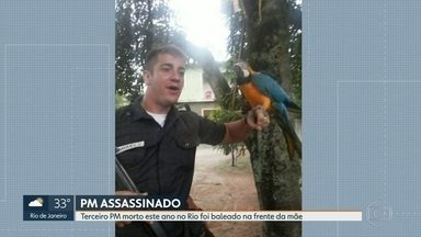 Terceiro PM morto no Rio este ano - Cabo da PM foi assassinado na frente da mãe em Itaboraí