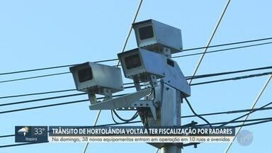 Novos radares entram em operação em Hortolândia a partir de domingo (20) - 38 novos equipamentos integram a fiscalização das vias do município.