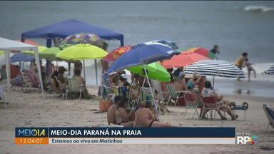 Meio-Dia Paraná ao vivo em Matinhos - Telespectadores aderiram à moda do chapéu.